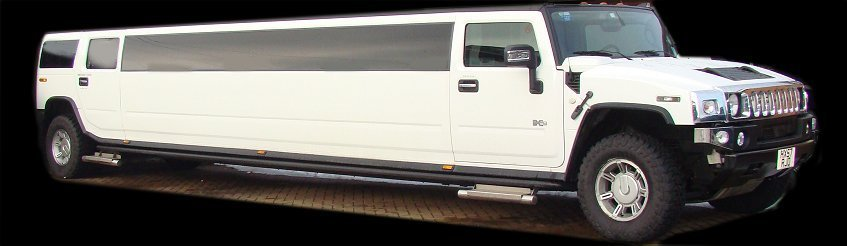 Limos for Hire -  Our White Hummer Limo for wedding hire