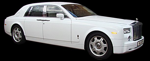 Limos for Hire -  Our White Phantom for wedding hire