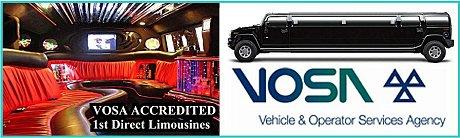 Legal Limo hire -  Vehicle & Operator Services Agency - VOSA LOGO London & Essex